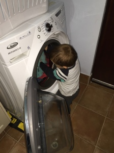 Filling the washing machine