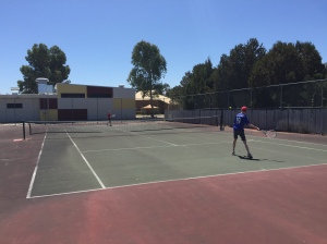 Tennis at local tennis courts
