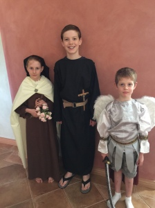 Saint Therese, Saint Ignatius & Saint Michael the Archangel